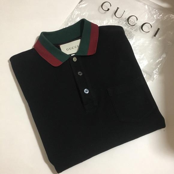 0cf53fe1733 Gucci Other - Gucci Polo Shirt Web Collar Medium